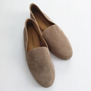 Lucky Brand suede tan flats size 6 7